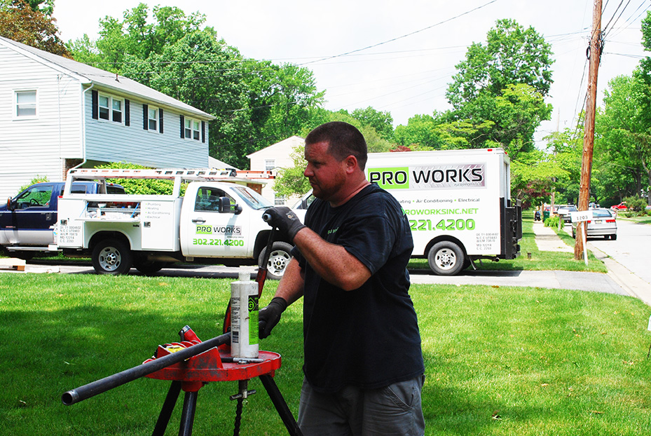 ProWorks Delaware residential and commercial plumbing, heating, air conditioning, water heater