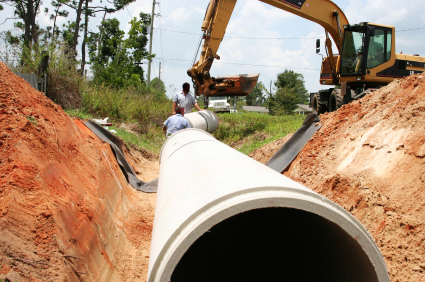 ProWorks, Inc. installs sewer lines and water lines